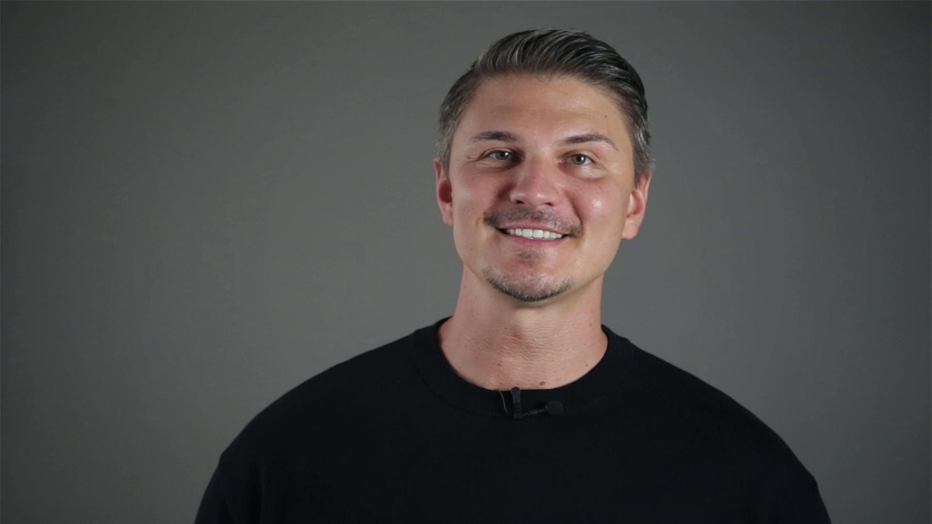 Image from a video of Pavlo Stroblja